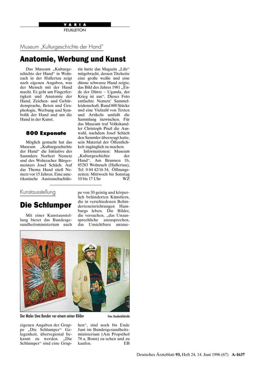 """Museum """"Kulturgeschichte der Hand"""": Anatomie, Werbung und Kunst"""