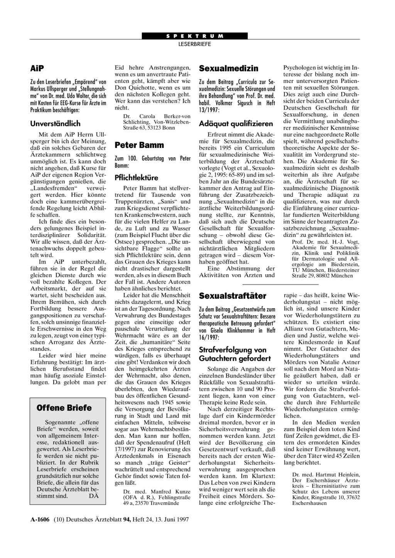 Sexualstraftter in Deutschland - duwirstvermisstde
