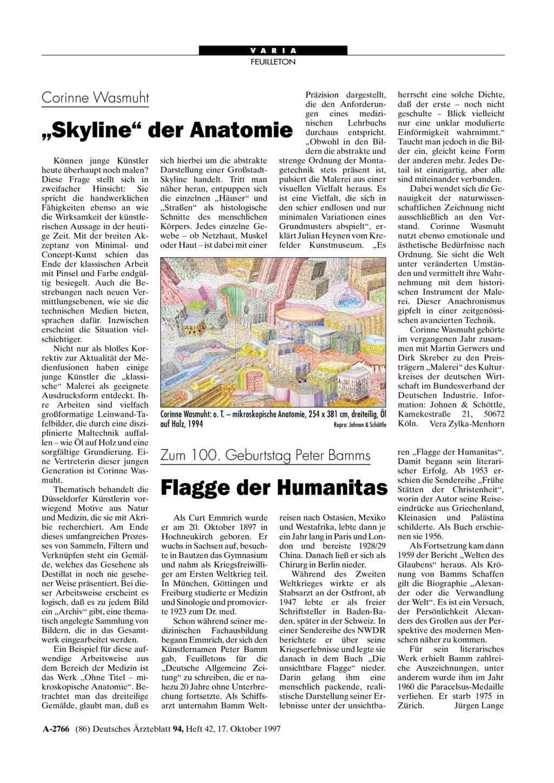 """Corinne Wasmuht: """"Skyline"""" der Anatomie"""