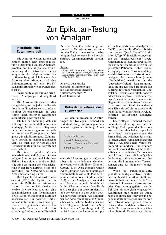 epikutantest amalgam