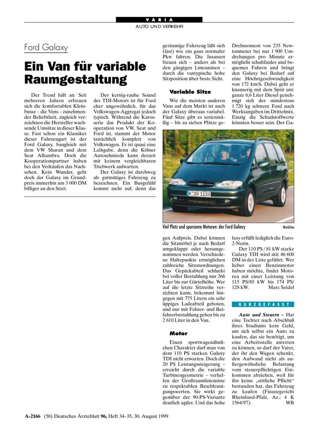 Ford galaxy ein van f r variable raumgestaltung for Raumgestaltung literatur