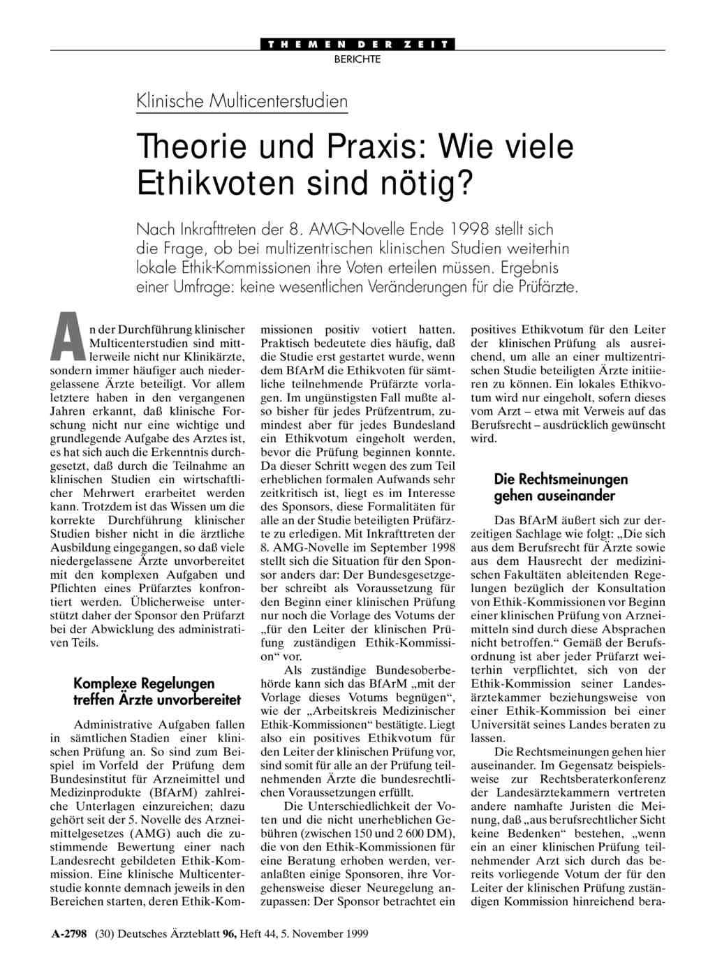 Klinische Multicenterstudien – Theorie und Praxis: Wie viele ...