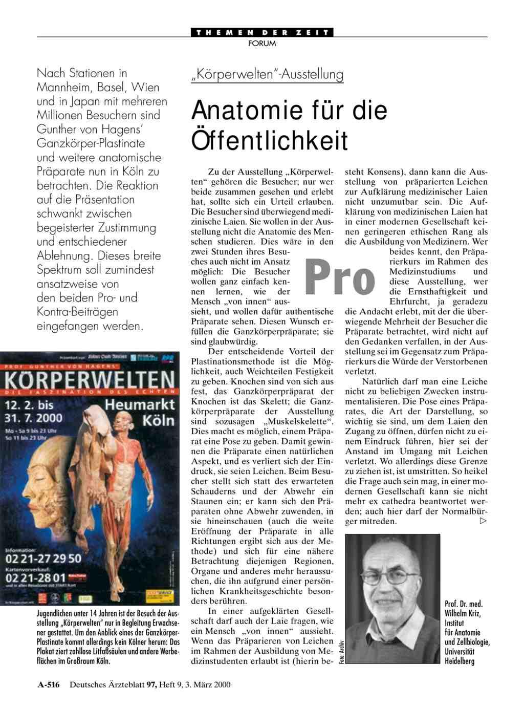 Berühmt Gunther Von Hagens Anatomie Für Anfänger Zeitgenössisch ...
