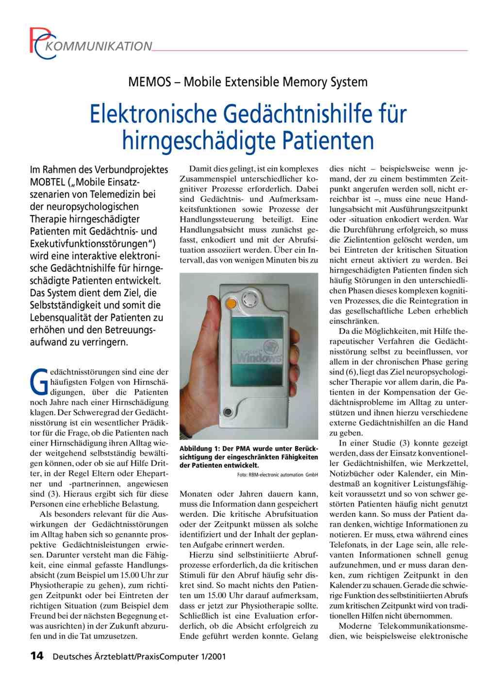 MEMOS – Mobile Extensible Memory System: Elektronische ...