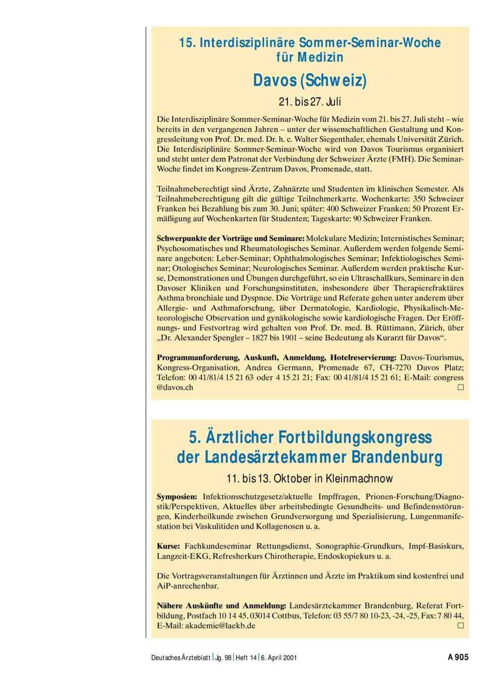 15 interdisziplin re sommer seminar woche f r medizin for Medizin studieren schweiz