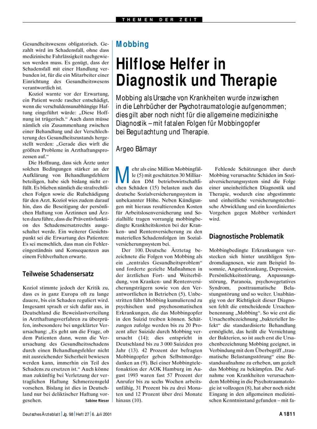 Hilflose Helfer