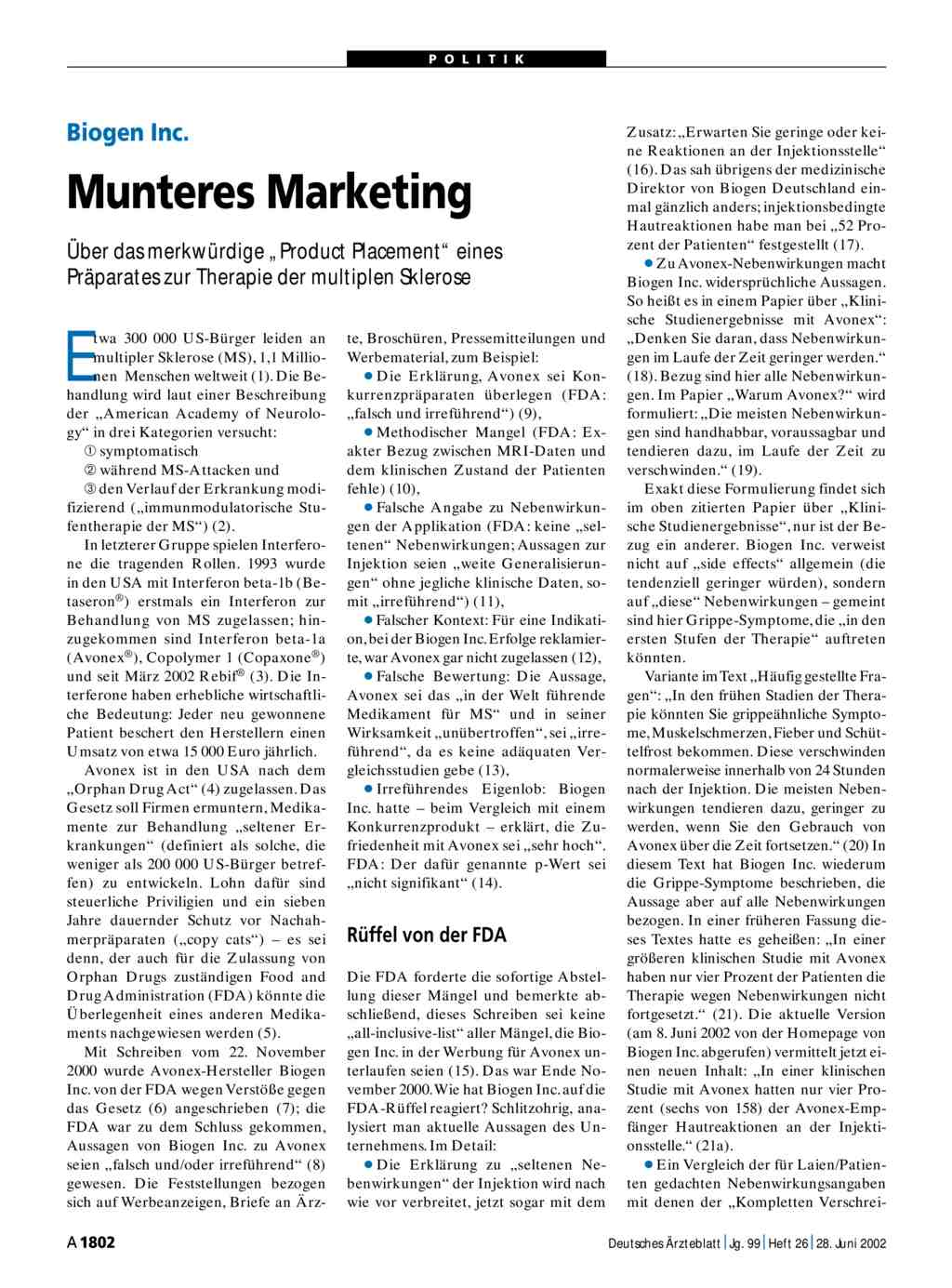 Biogen Inc.: Munteres Marketing