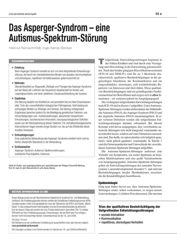 asperger syndrom erwachsene test