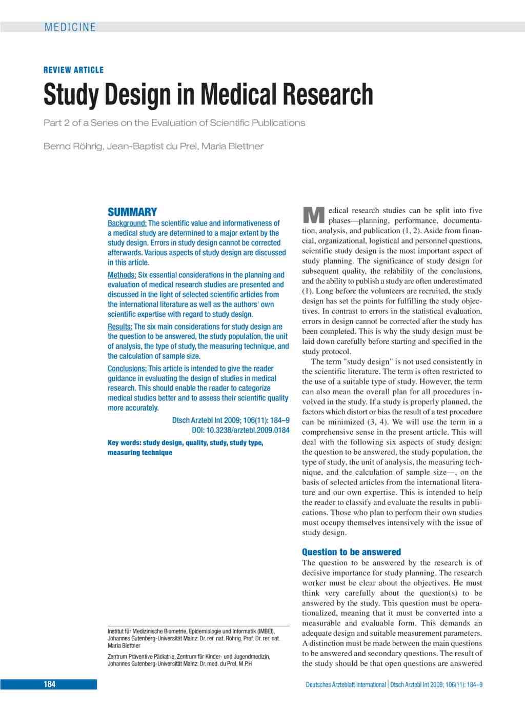 study design in medical research pdf