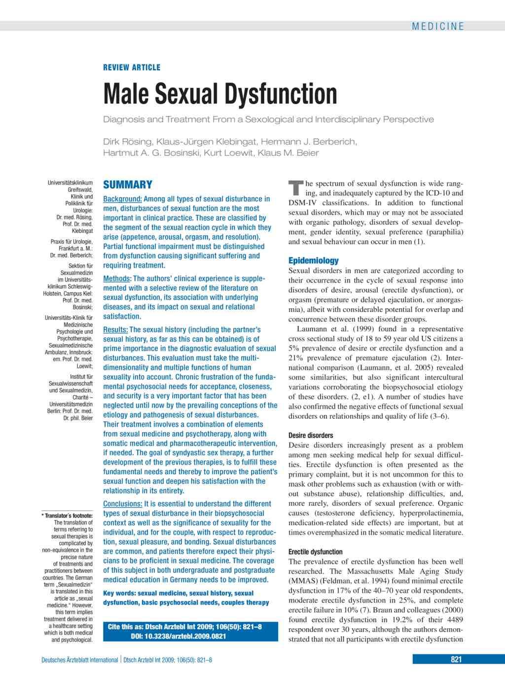 Sexualmedizinische praxis berlin