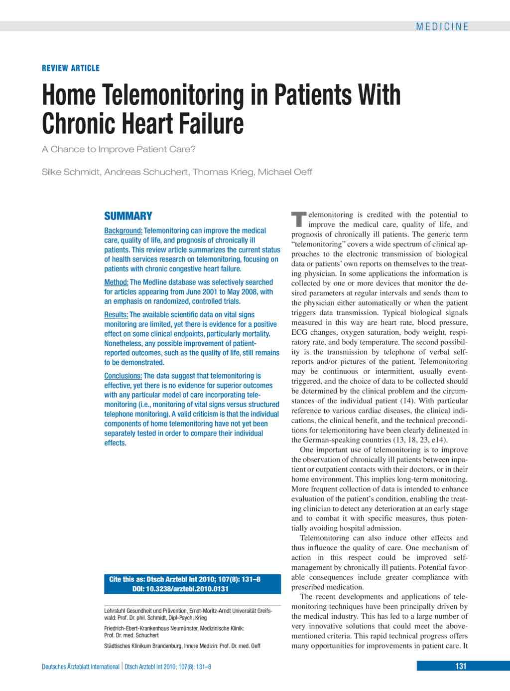 telemonitoring of heart failure patients and their caregivers a pilot randomized controlled trial Improving heart failure care were associated with patients' ratings of their mental a randomized controlled trial testing the impact of a.