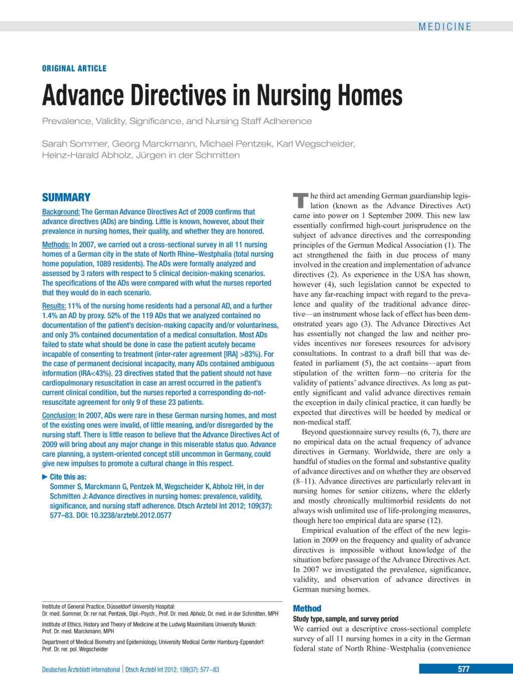 Advance Directives In Nursing Homes 14092012