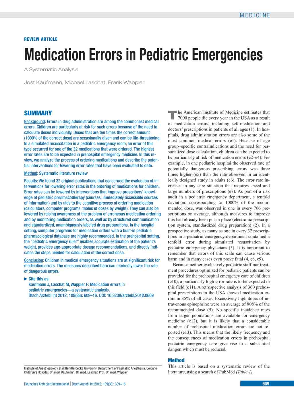 a literature review about mecication errors essay To explore the factors contributing to registered nurse medication administration error behaviour.