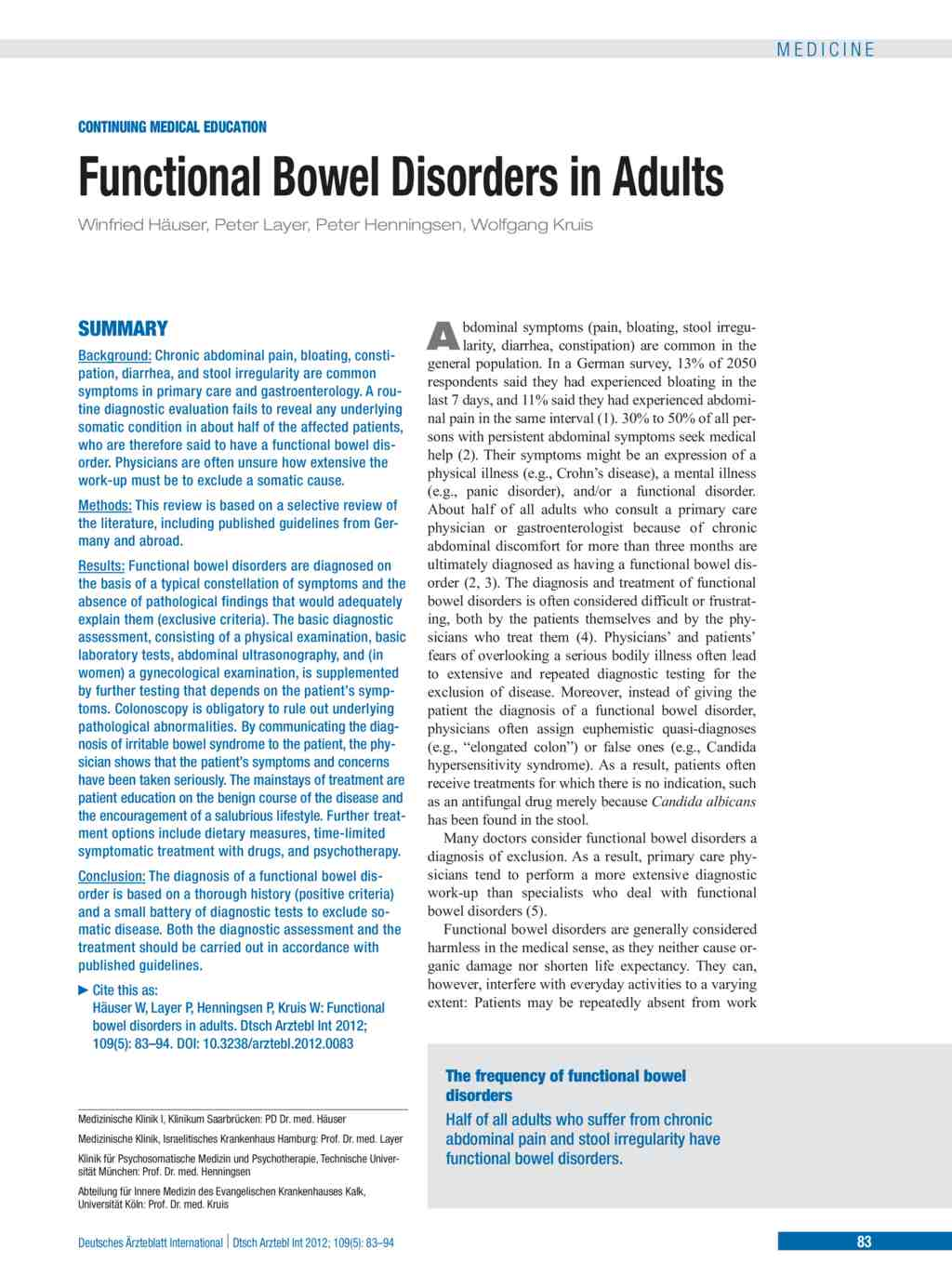 constipation management in adults