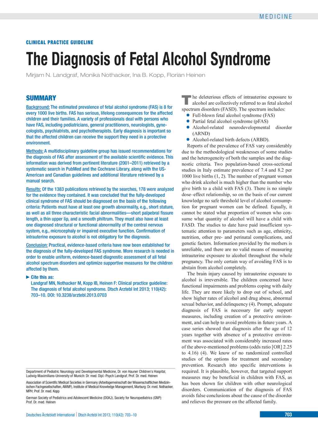 an analysis of the fetal alcohol syndrome in the development of a fetus
