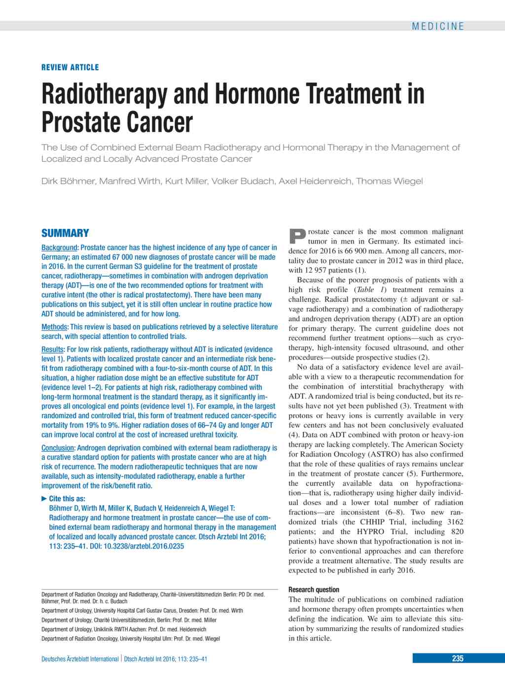 Radiotherapy And Hormone Treatment In Prostate Cancer 08