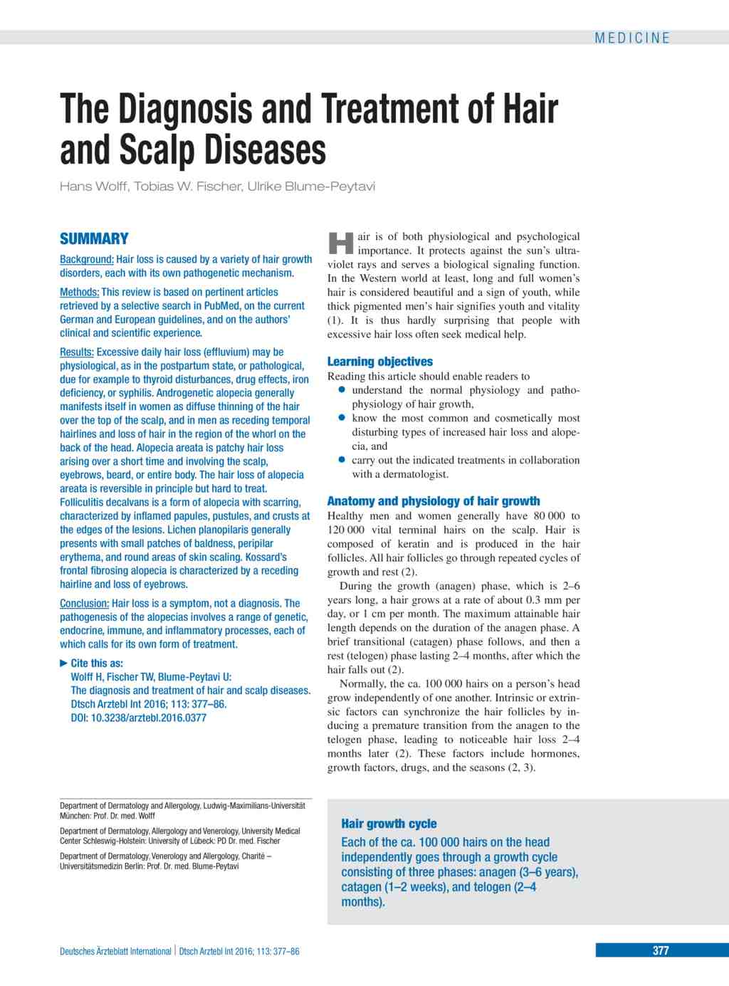 The Diagnosis and Treatment of Hair and Scalp Diseases (27.05.2016)