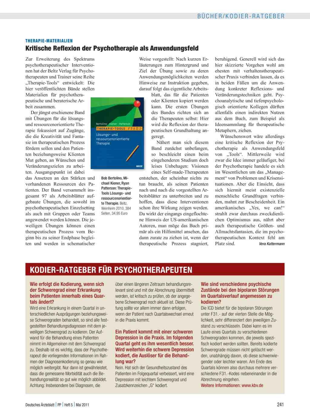 therapie-Materialien: Kritische Reflexion der Psychotherapie als ...