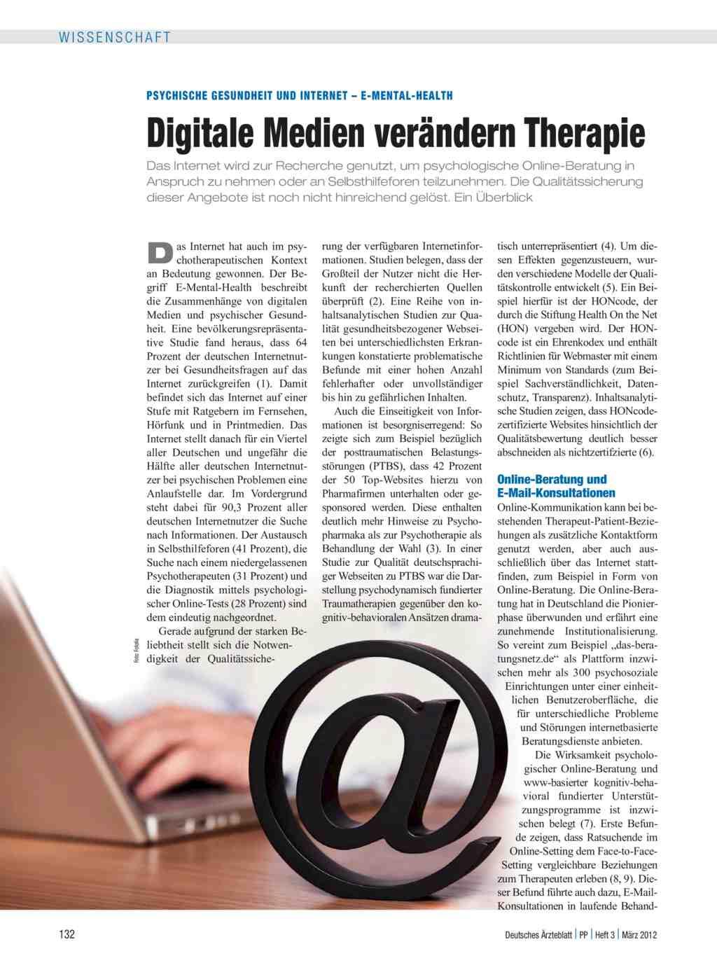 Psychische Gesundheit und Internet – E-mental-Health: Digitale ...