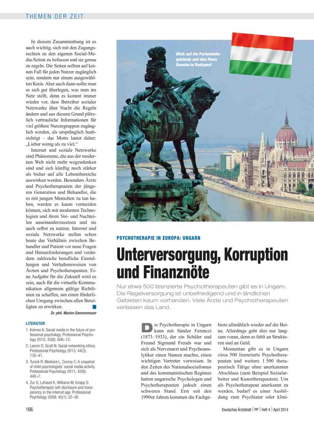 Psychotherapie in Europa: Ungarn: Unterversorgung, Korruption und ...