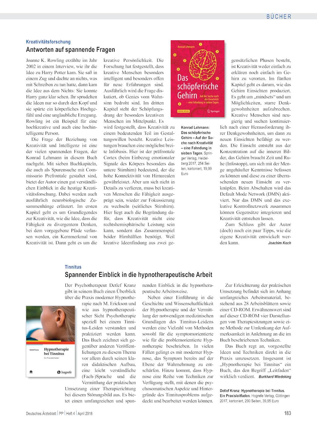 Tinnitus: Spannender Einblick in die hypnotherapeutische Arbeit