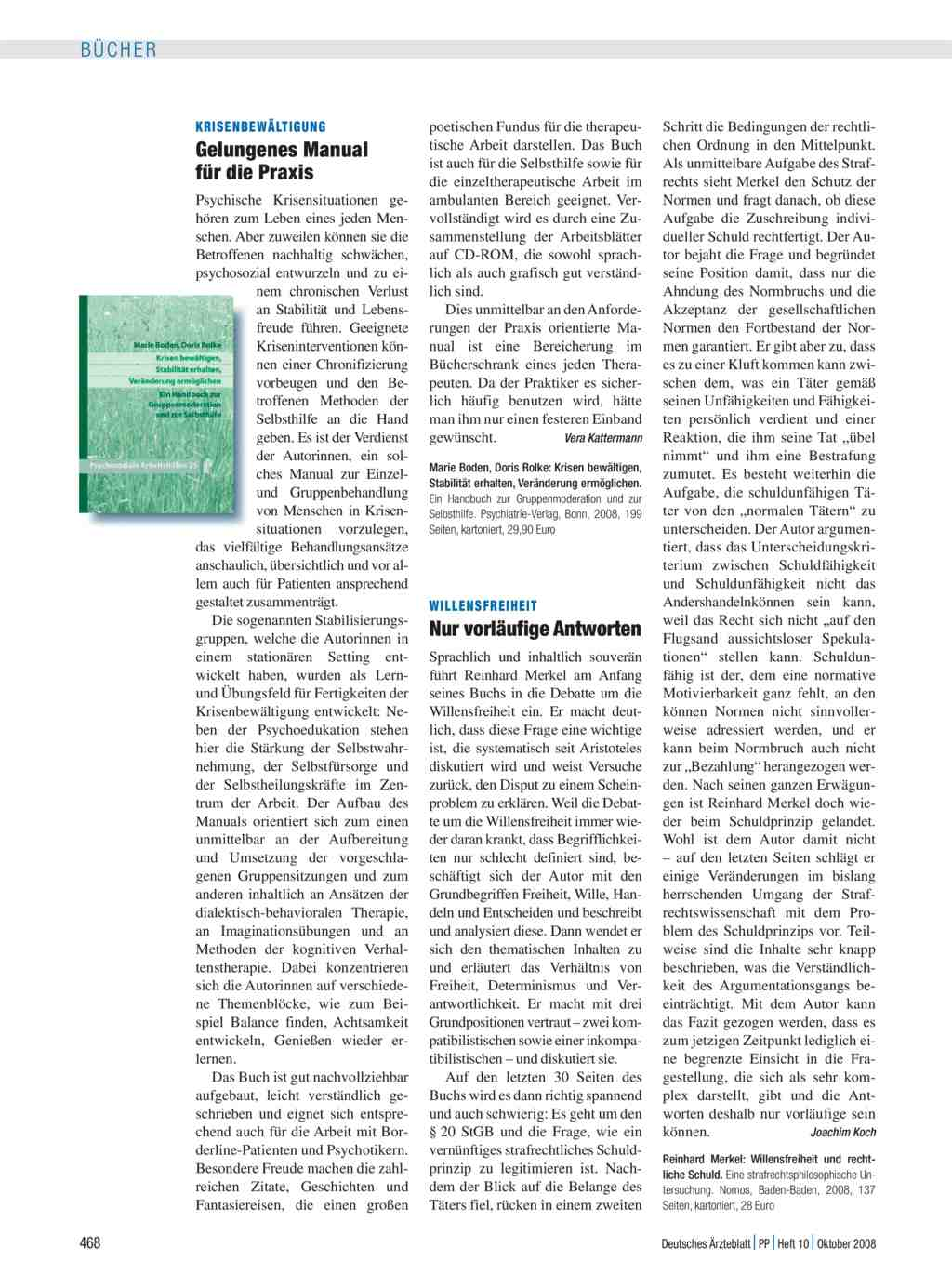Krisenbewältigung: Gelungenes Manual für die Praxis