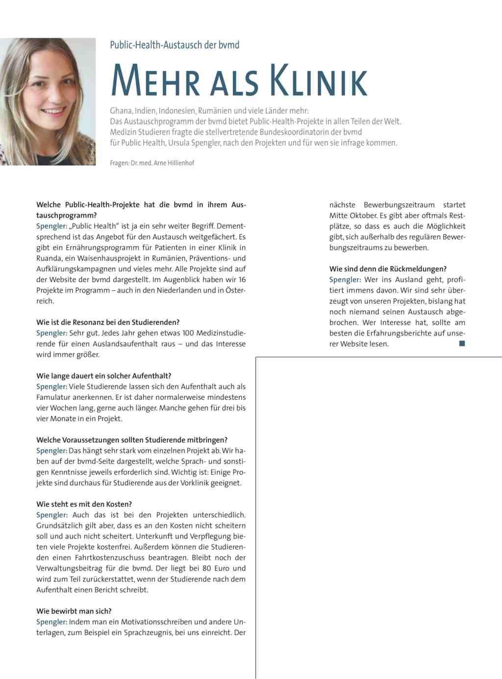 Public Health Austausch der bvmd: Mehr als Klinik
