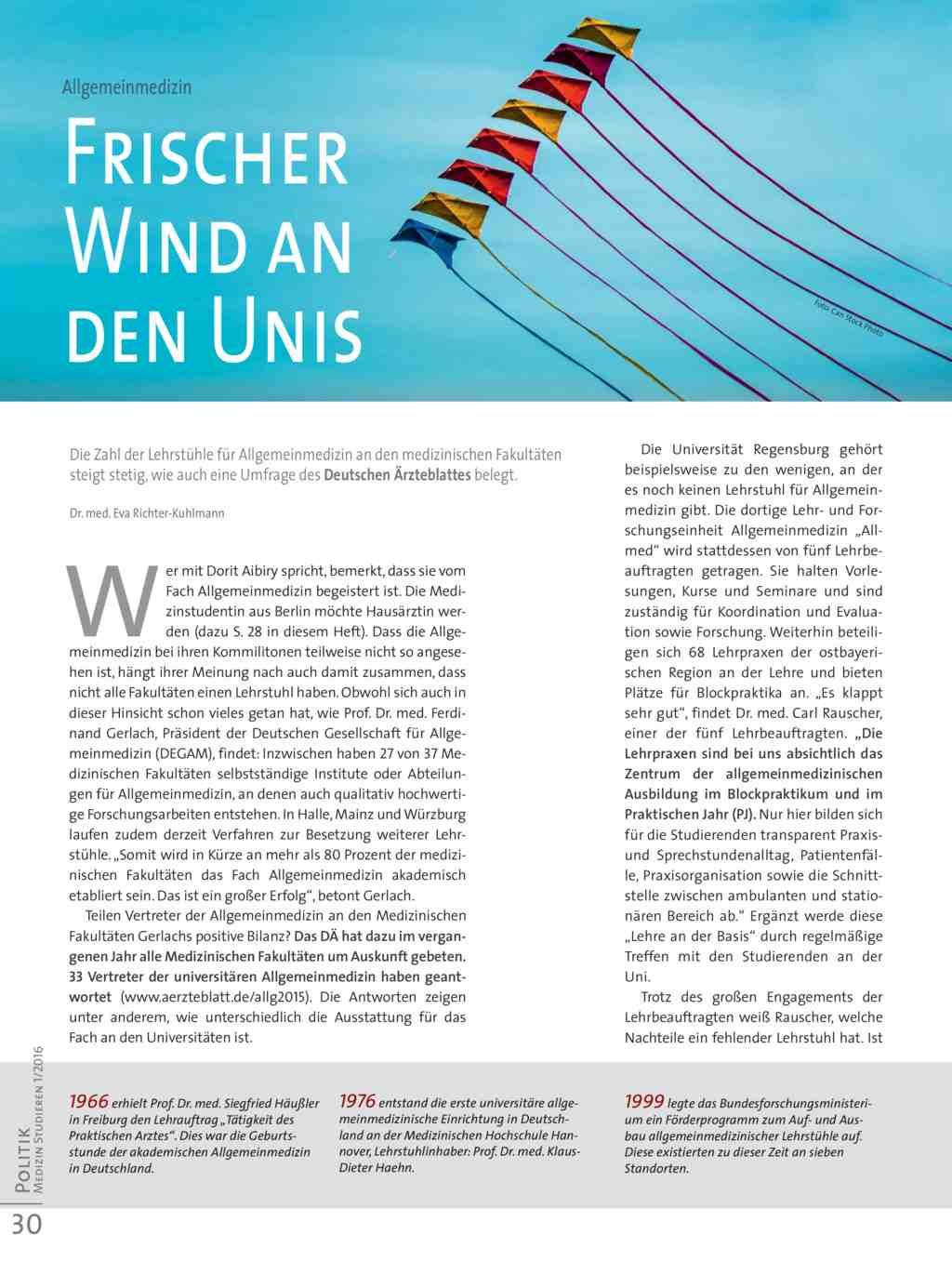 Allgemeinmedizin: Frischer Wind an den Unis