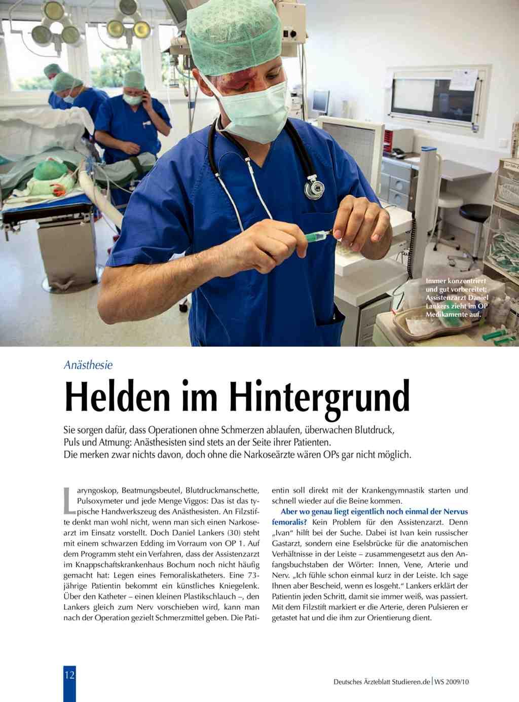 Anästhesie: Helden im Hintergrund