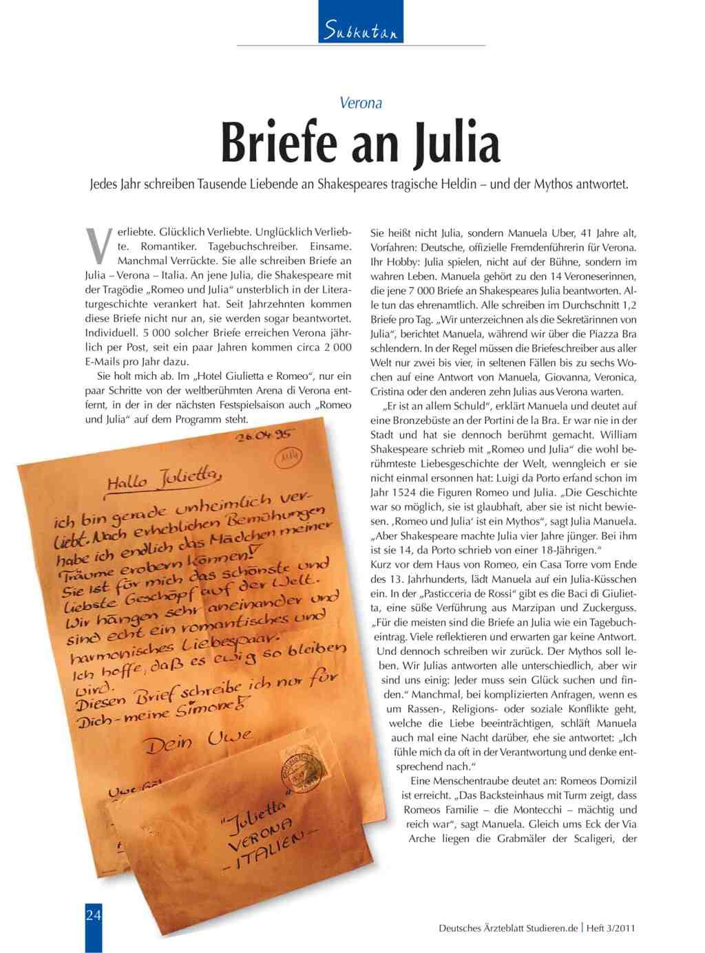 Verona Briefe An Julia