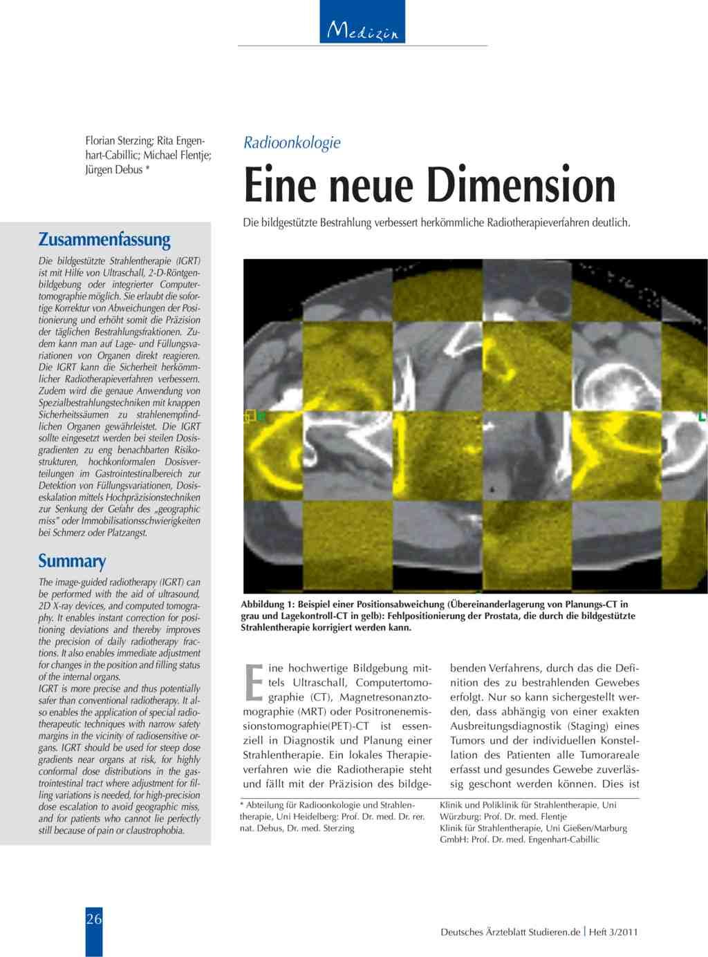 Radioonkologie: Eine neue Dimension