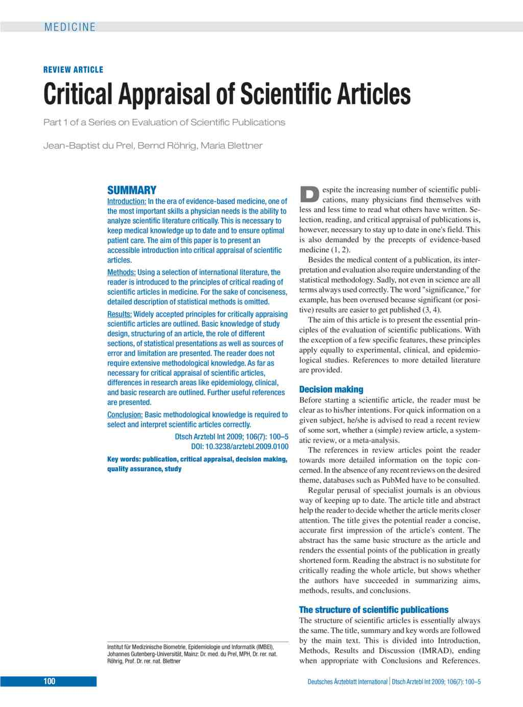 critical appraisal pdf