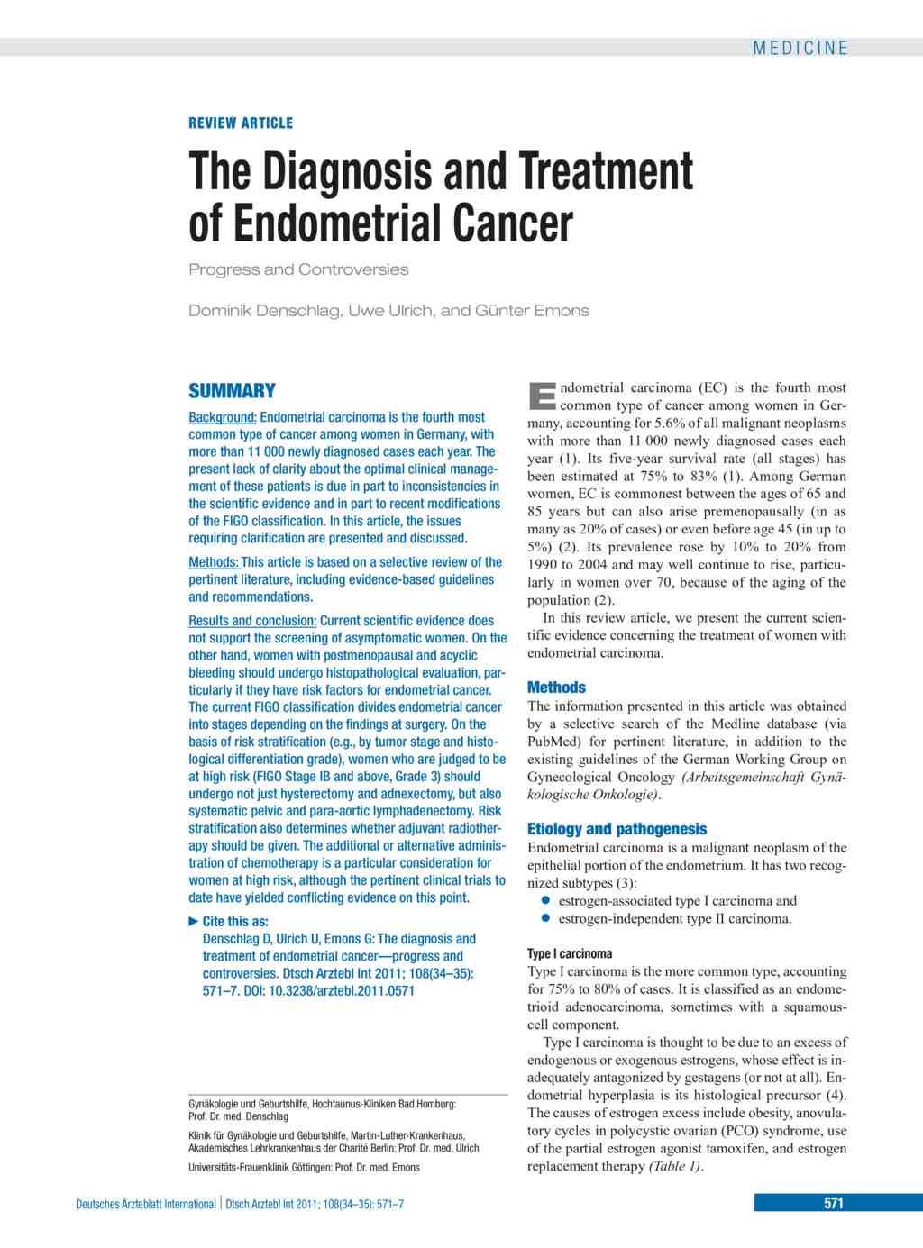 endometrial cancer review)