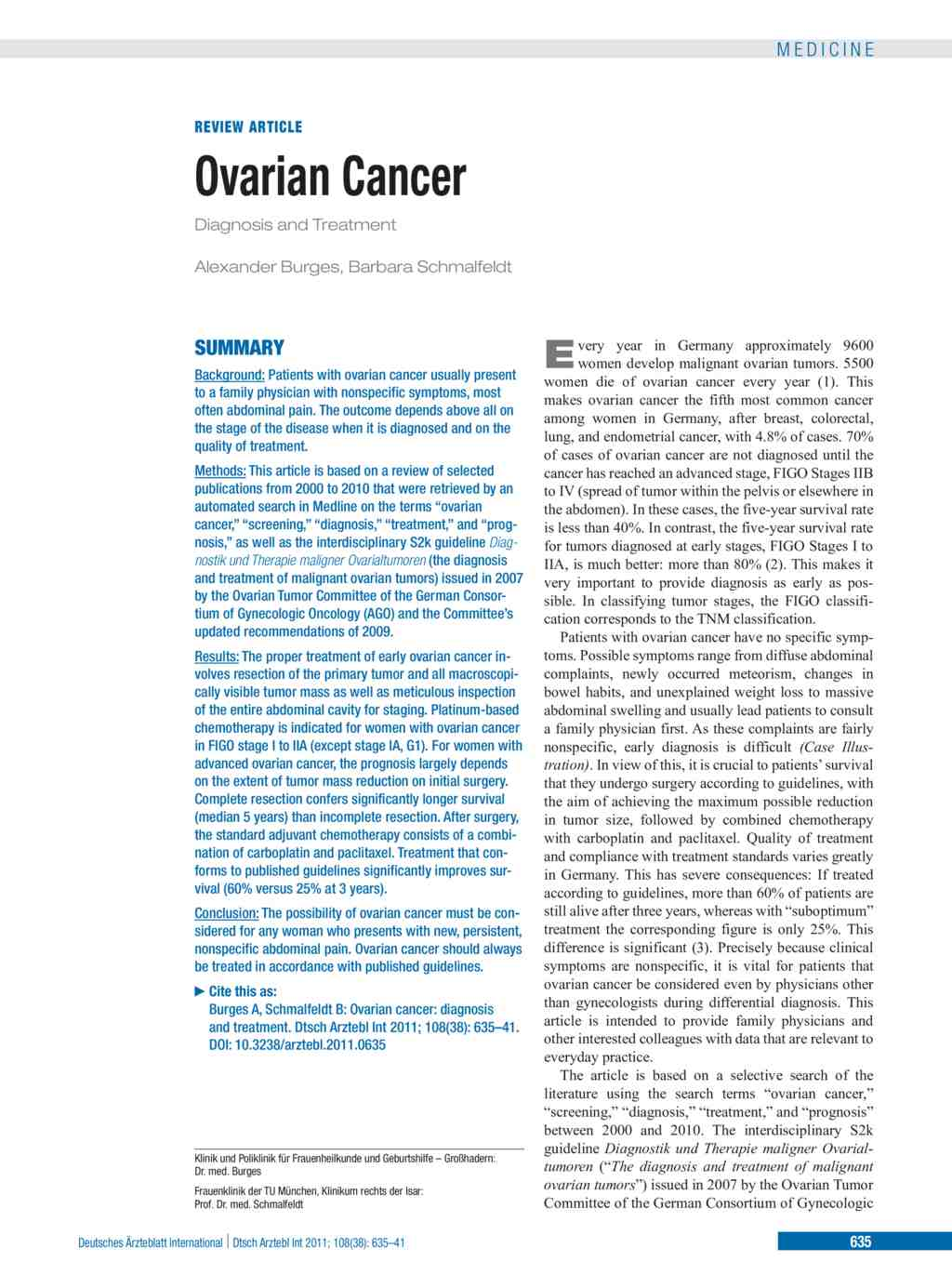 Ovarian Cancer 23 09 2011