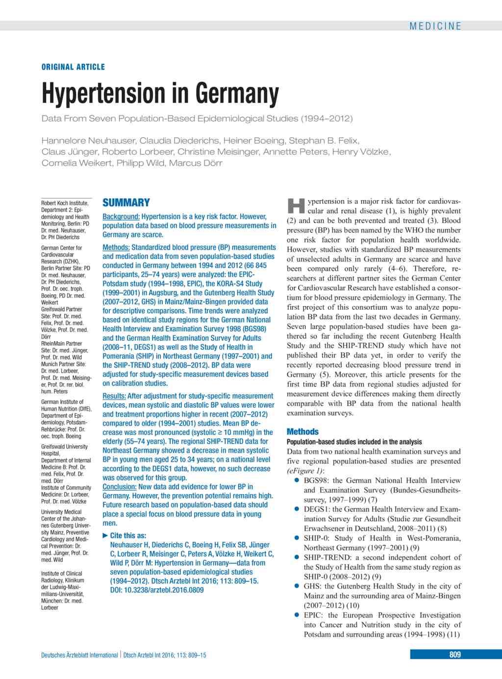 Hypertency Prevent: Hypertension In Young Pdf