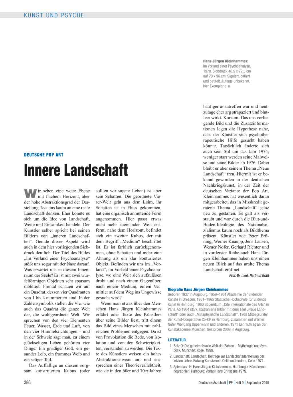 Deutsche Pop Art: Innere Landschaft