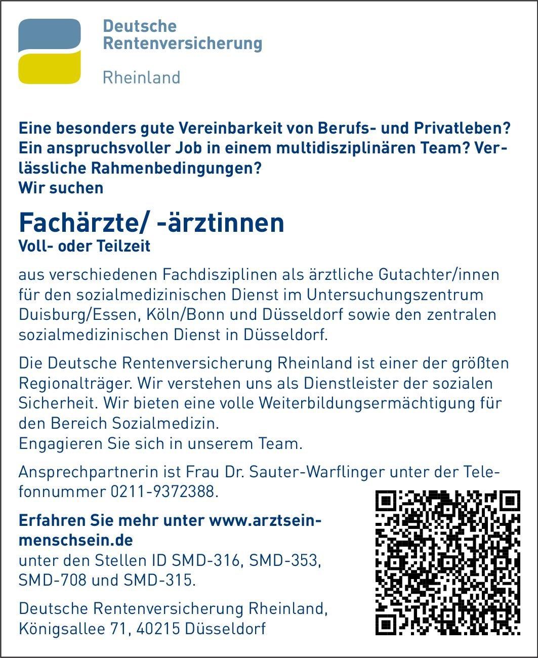 Stellenangebot Fachärztefachärztinnen Düsseldorf