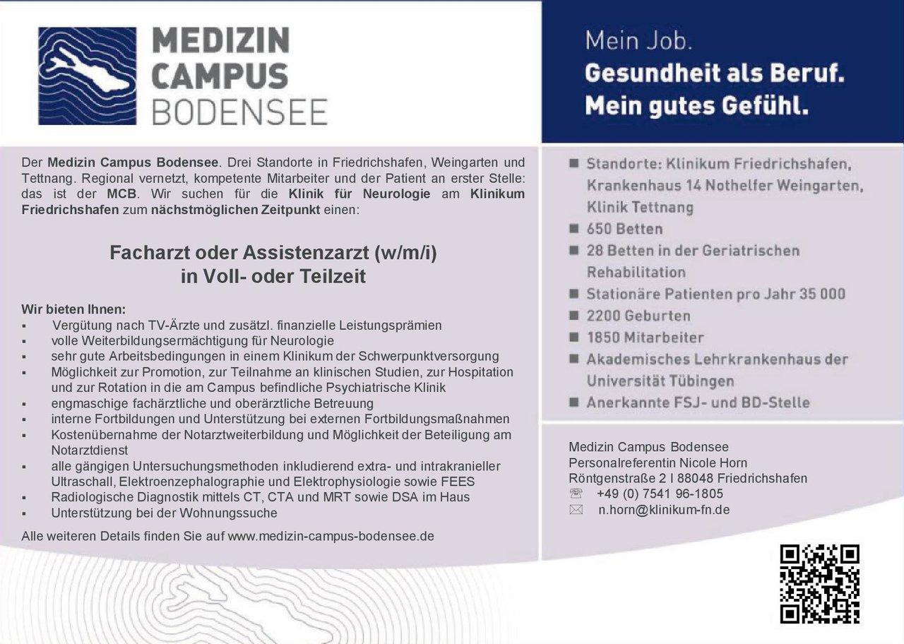 Stellenangebot Facharzt Oder Assistenzarzt Wmi Neurolog
