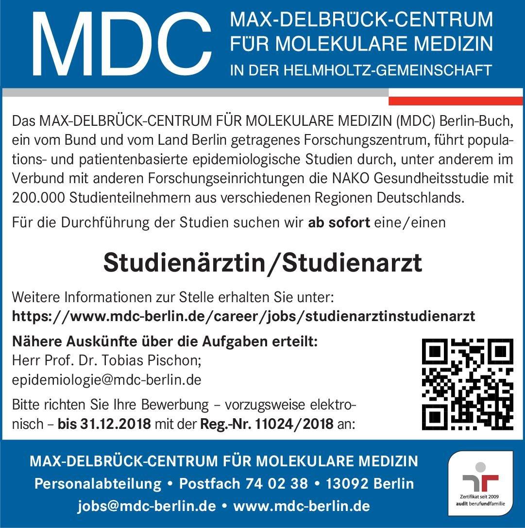 Stellenangebot Studienärztinstudienarzt Berlin