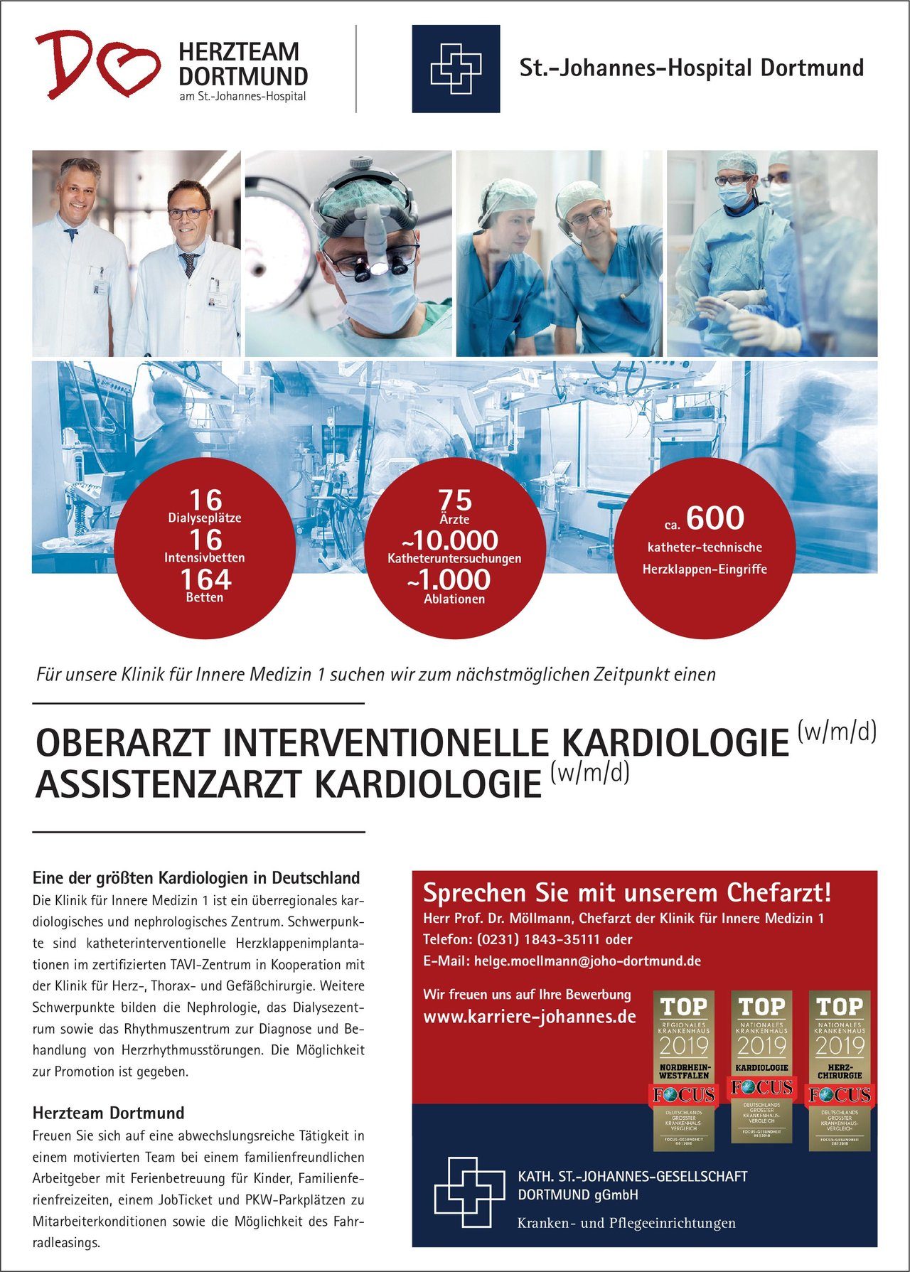 Stellenangebot Assistenzarzt Kardiologie Wmd Dortmund