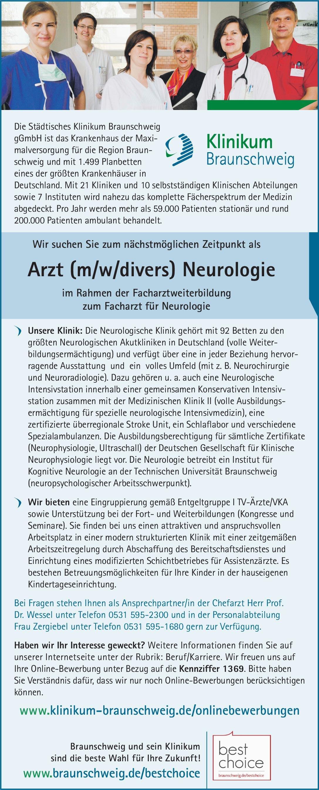 Stellenangebot Arzt Mwdivers Neurologie Braunschweig
