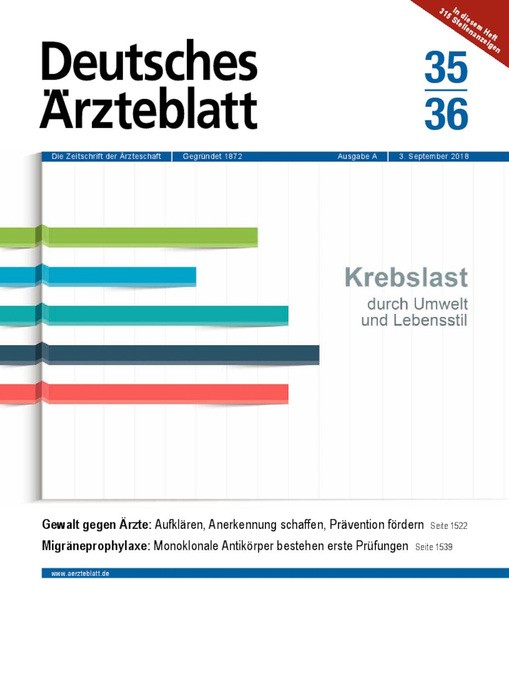 Bildergebnis für deutsches ärzteblatt 35 36